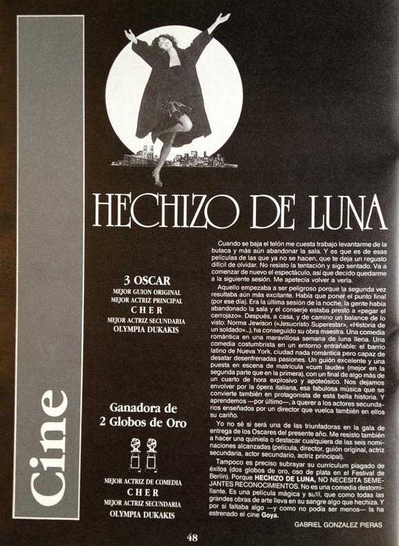 Cine. Hechizo de luna - Aki Zaragoza