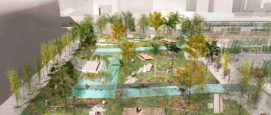 vista futura del parque pignatelli