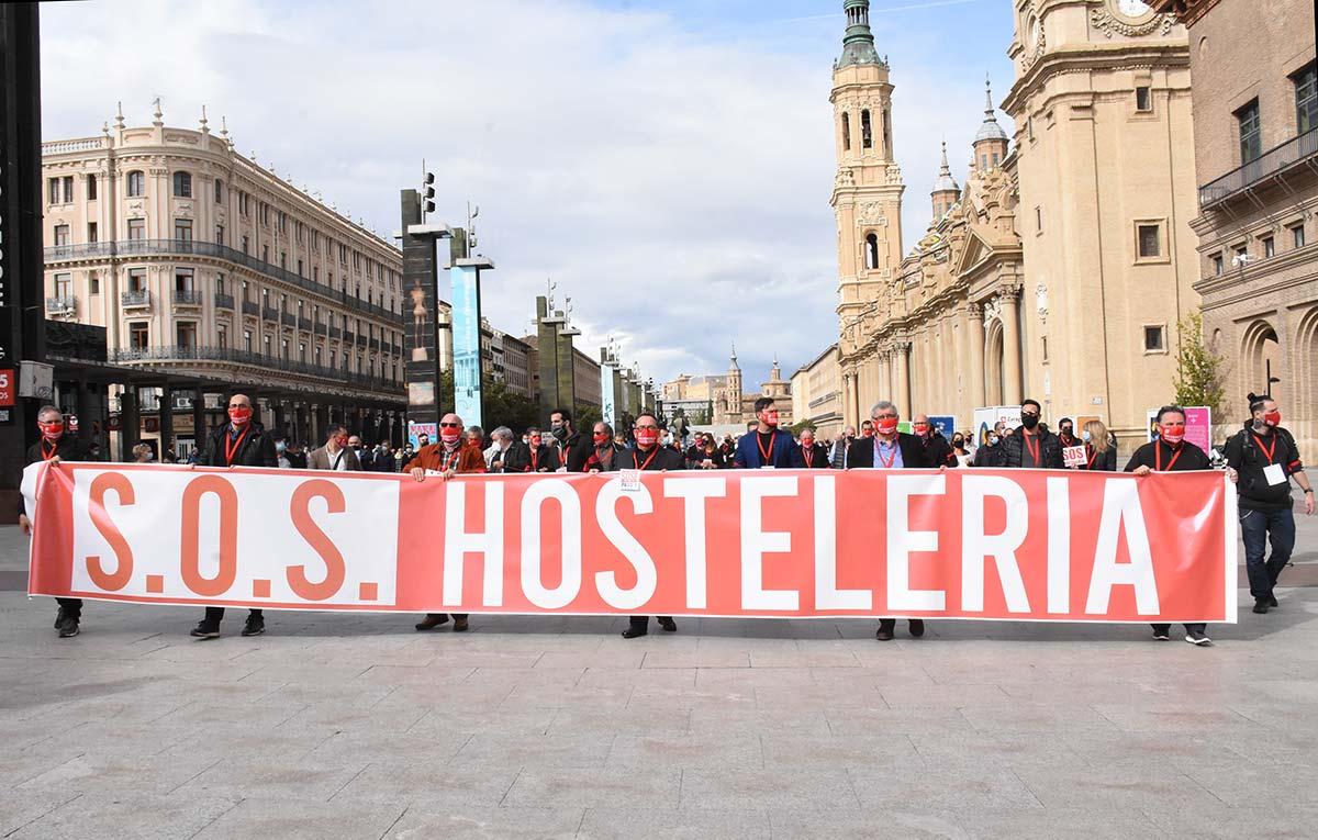 Manifestación en Apoyo a la Hostelería