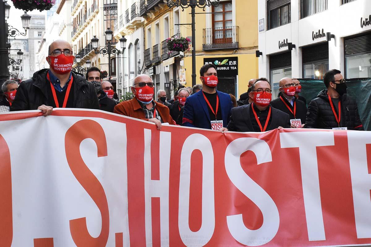 manifestacion apoyo a la hosteleria